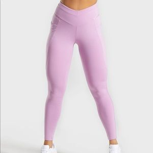 gymshark recess leggings in pink/pastel grape